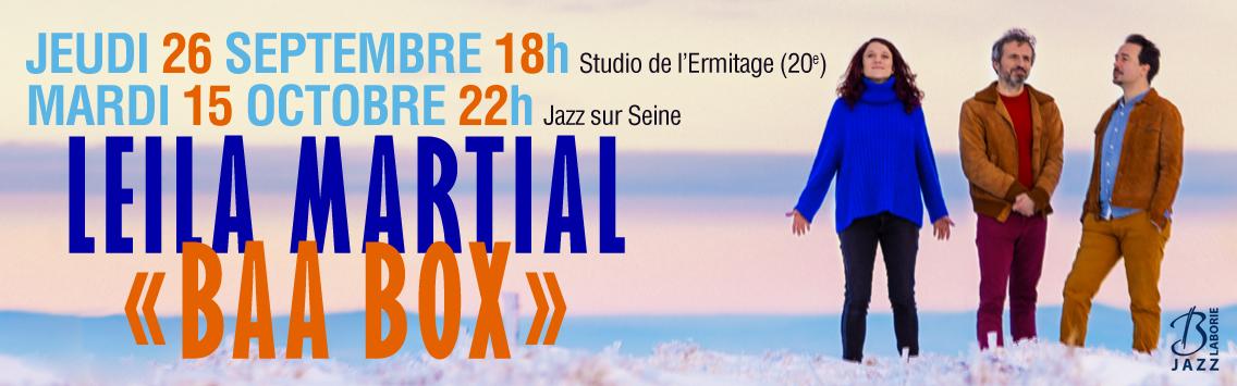 Leila Martial concert studio de l'ermitage et jazz en seine